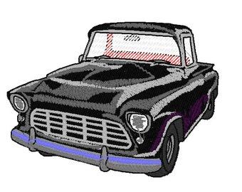 1955 Chevy Pickup Embroidery Design 4x4 Hoop