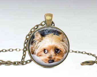 Yorkie Necklace- Yorkie Pendant - Dog necklace -Puppy Necklace -Bronze Yorkshire Terrier Necklace - Pendant Gift for Dog Lover
