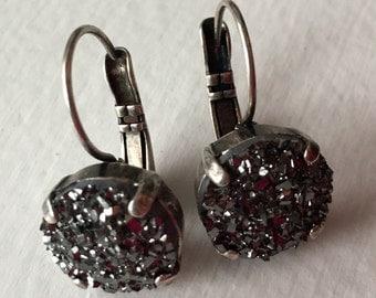 Druzy Drop Earrings 10mm