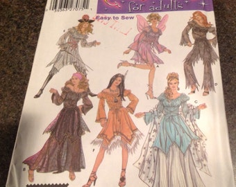 Simplicity 5363 SewingPattern Costumes For Adults Pirate Princess Gypsy Fairy Cosplay Dress Up Role Play Halloween 6-12
