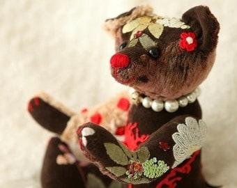 BEKKIEBEARS ooak artist bear Flower