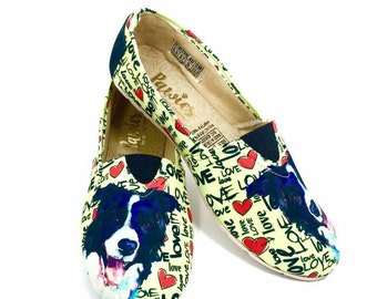 Border Collie shoes!! Women shoes, Dog breed, dog lovers.
