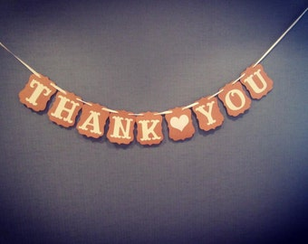 Thank you bunting/vintage wedding accessories