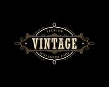 Vintage Logo Design - Cigars Logo Design - Vapor Cigarettes - E Cigarettes - Business Logo - Business Logo - Whatermark Logo - Custom Logo
