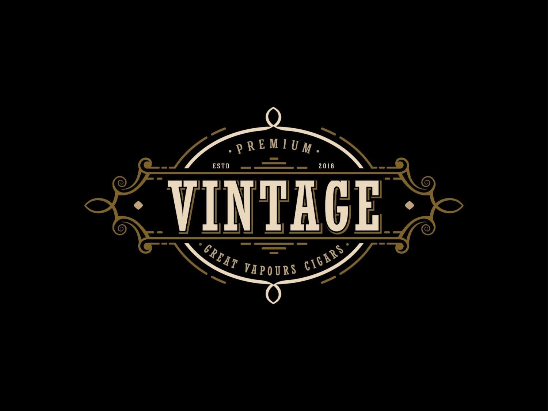 vintage logo design cigars logo design vapor cigarettes