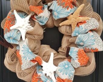 Starfish Beach Wreath