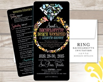 RING . bachelorette invitation