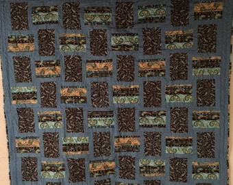 Blue/Brown throw quilt