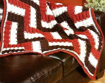 Crochet pattern for zig zag throw, blanket, crochet, pattern
