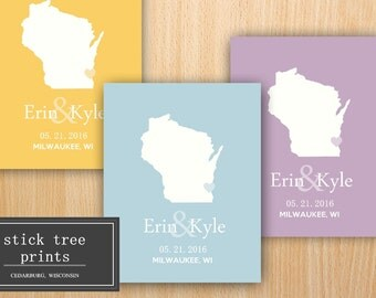 Personalized Wedding Print, Custom Wedding Print, State Wedding Print, Wedding Gift, Bridal Shower Gift, Wedding Present