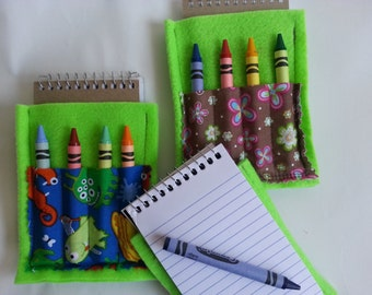 crayon and notebook holder