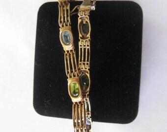 925  Bracelet peridot amethyst  quartz
