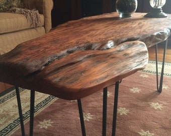 Simple but amazing Rustic slab coffee table