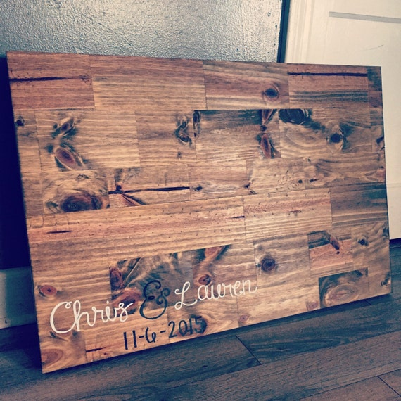 Rustic Wood Wedding Guestbook, country wedding, wedding decor, wedding guestbook, customized guestbook