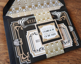 Art Deco - Wedding Stationery Set