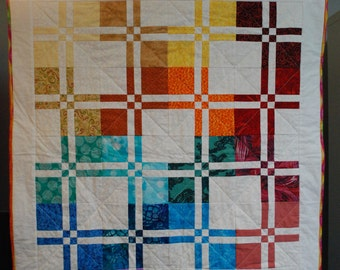 Handmade baby quilt--disappearing 4-patch variation--perfect baby shower gift!