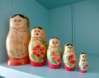 Vintage Babushka Nesting Dolls 1970s