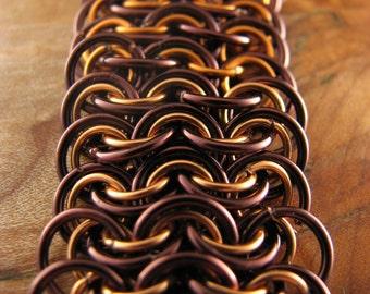 Crimson and Copper King's Mail Bracelet