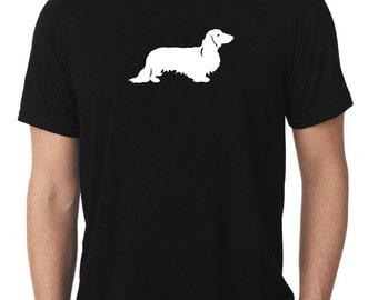 Dachshund T-Shirt longhaired wiener dog T103