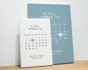 Personalised Wedding Print, Wedding Calendar Print, Wedding Gift, Engagement Gift, Engagement Print, Home Decor, Bedroom Decor, Gift for Her
