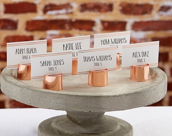 Copper Pipe Place Card Holders (Set of 12)