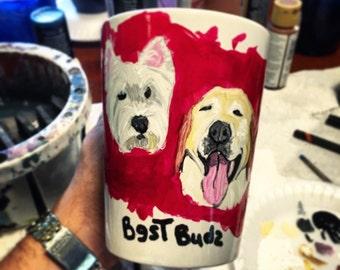 Best Buds Pet Portrait Coffee Mug