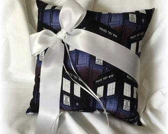 doctor who wedding ring bearer pillow navy dr who ring pillow scifi wedding ring pillow doctor who ring pillow doctor who wedding - Dr Who Wedding Ring