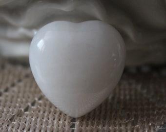 Quartz Heart, Clear Quartz Heart, Stone Heart, Polished Stone Heart