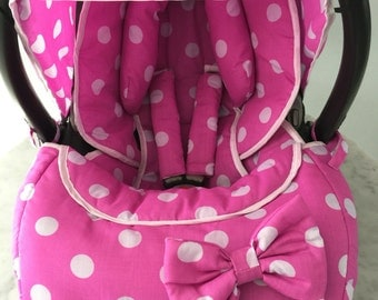 Pink White Spots Newborn Full Set