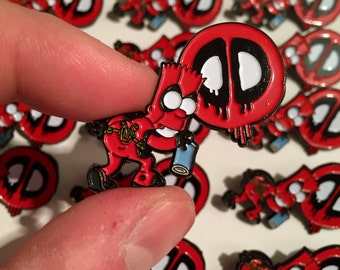 Bart x Deadpool Pin Badge