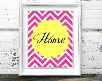 Chevron Home Print,#HomeDecor,#DIY,#Yellow,#Pink,#White,#Printables,#InteriorDesign,#Art,#Stripes,#Lines,#Clean,#modern,#WordArt,#Quotes