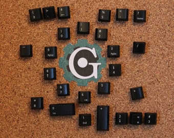 Keyboard Push Pins - Numerical