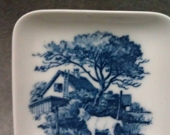 Royal Copenhagen Denmark Home with Goat in yard Design Dish Plate Coin Tray