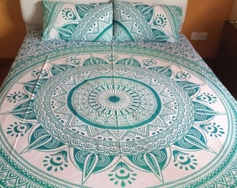 Turquoise Ombre Bedsheet Set