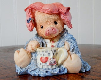 Enesco This Little Piggy Stayed Home Figurine (1994 Retired)