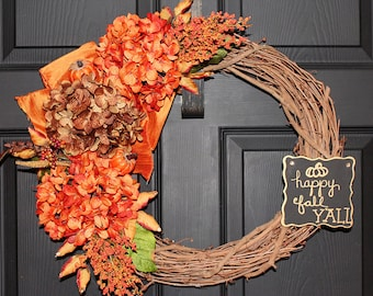 Fall Wreath, Thanksgiving Wreath, Autumn Wreath, Fall Grapevine Wreath, Autumn Grapevine Wreath, Grapevine Wreath