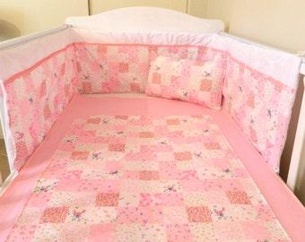 SALE*** Baby girls pink bedding set.