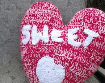 Crochet Candy Heart Pillow/Plushy