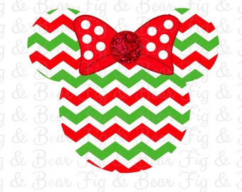Disney Iron On Christmas Minnie Mouse Shirt Transfer INSTANT DOWNLOAD Digital Download
