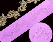 leaf lace silicone mat for decorating cake