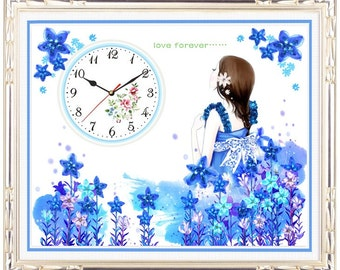 5D Ribbon Hand-Embroidery RB2-Clock