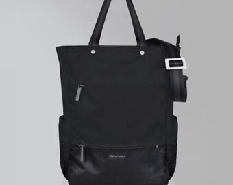 Camden Raven Backpack/Tote/Crossbody