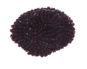 Victorian Garnet Seed Bead Brooch