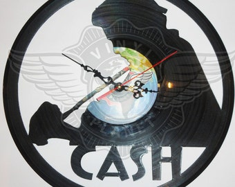 Vinyl Wall Clock JOHNNY CASH