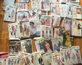 Approx 100 Vintage Sewing Patterns - bulk lot!