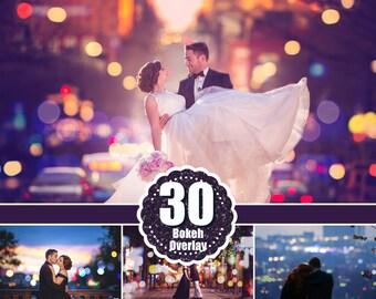 30 City Bokeh Light Overlays, Digital Backdrop, Holiday Party Wedding Lights, Overlays Photoshop, Digital Background Backdrop Texture jpg