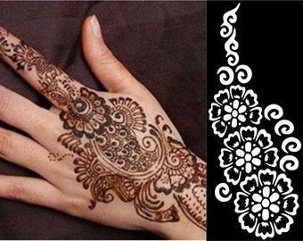 Finglong Stencils for Henna and Glitter temporary tattoo body art