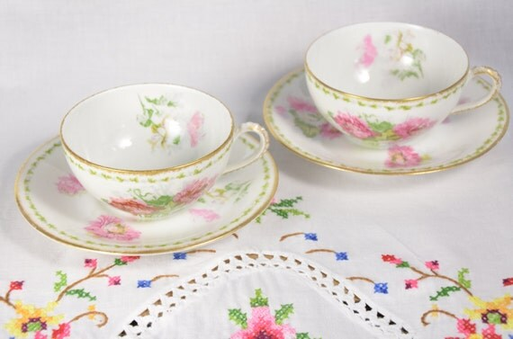 A lanternier limoges france cup and saucer porcelaine de - Estampille porcelaine limoges ...