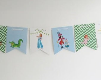 Peter Pan banner  Neverland party  Peter pan Party