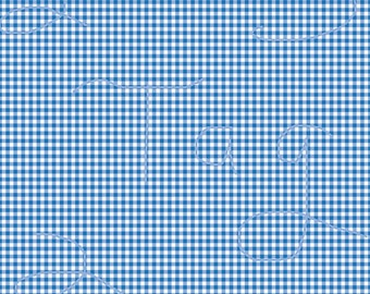Navy Blue Gingham Cardstock Paper